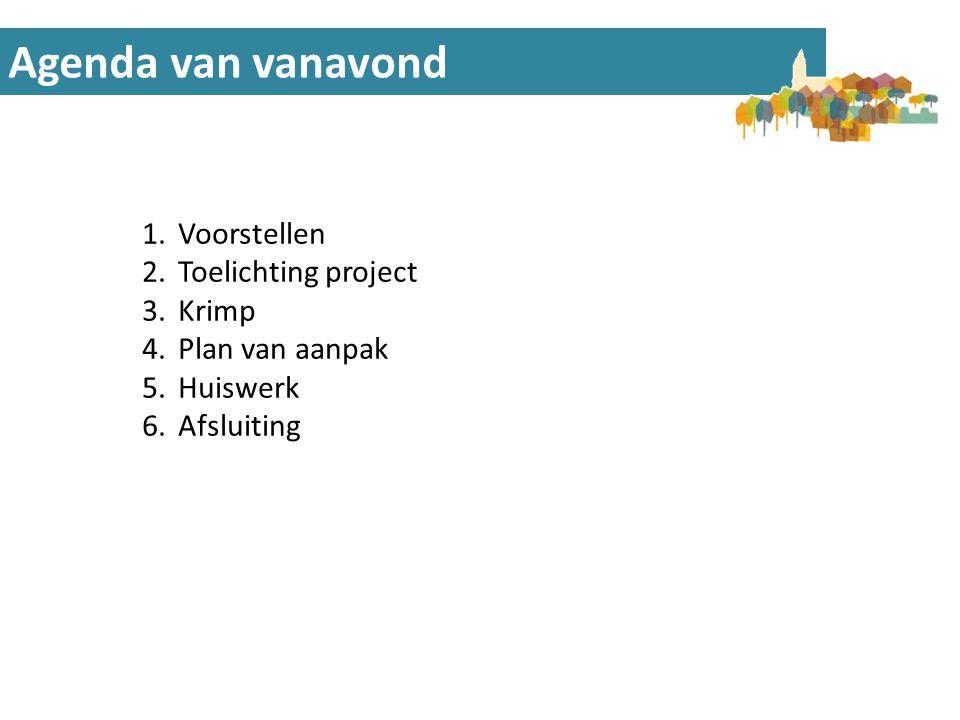 Toelichting Project Algemene doelstellingen • Kennis vergroten over demografische ontwikkelingen.