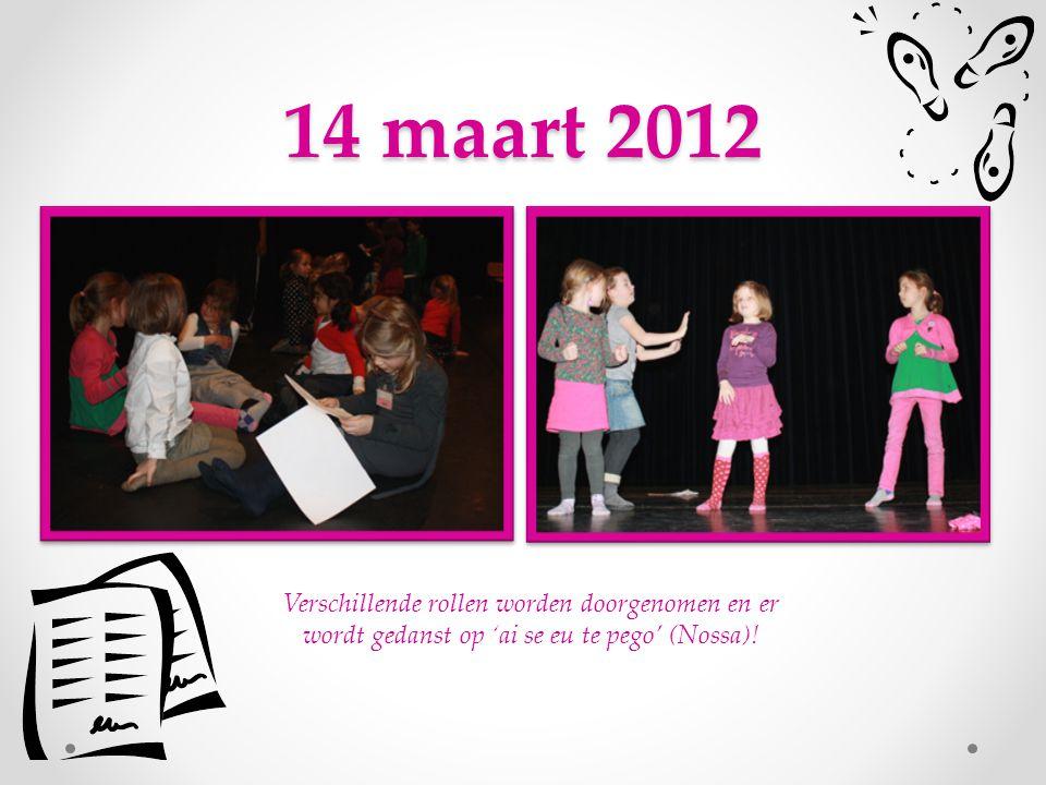 7 maart 2012 Yes, op het podium.
