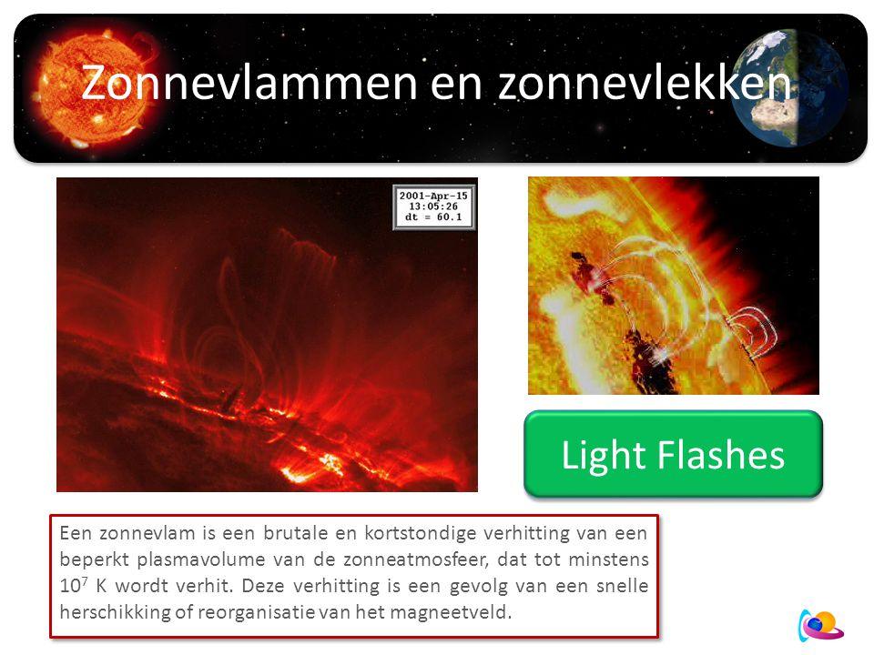 Zonnevlammen en zonnevlekken Space Weather events Een zonnevlam is een brutale en kortstondige verhitting van een beperkt plasmavolume van de zonneatmosfeer, dat tot minstens 10 7 K wordt verhit.