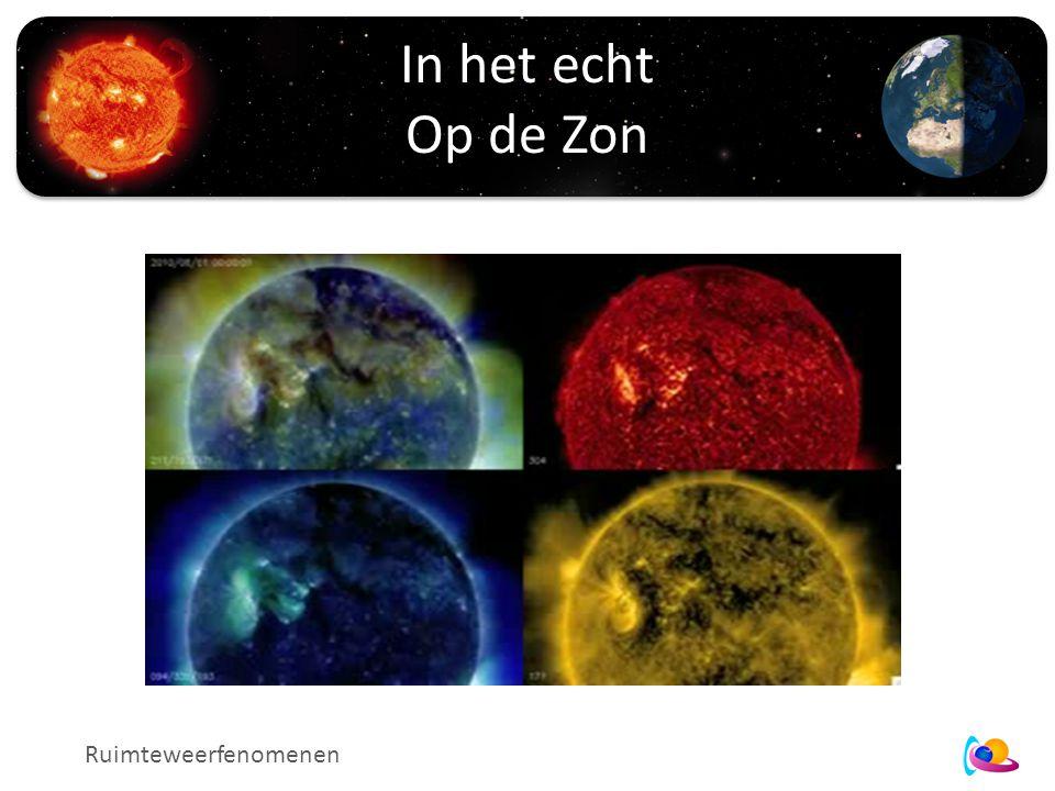 In het echt Op de Zon Ruimteweerfenomenen