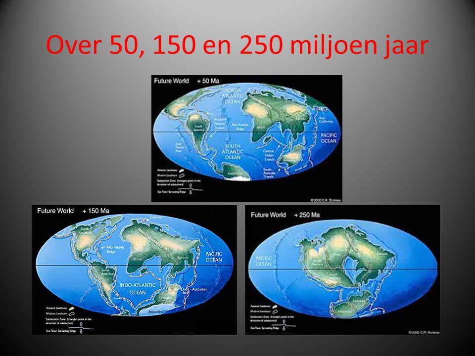Over 50, 150 en 250 miljoen jaar