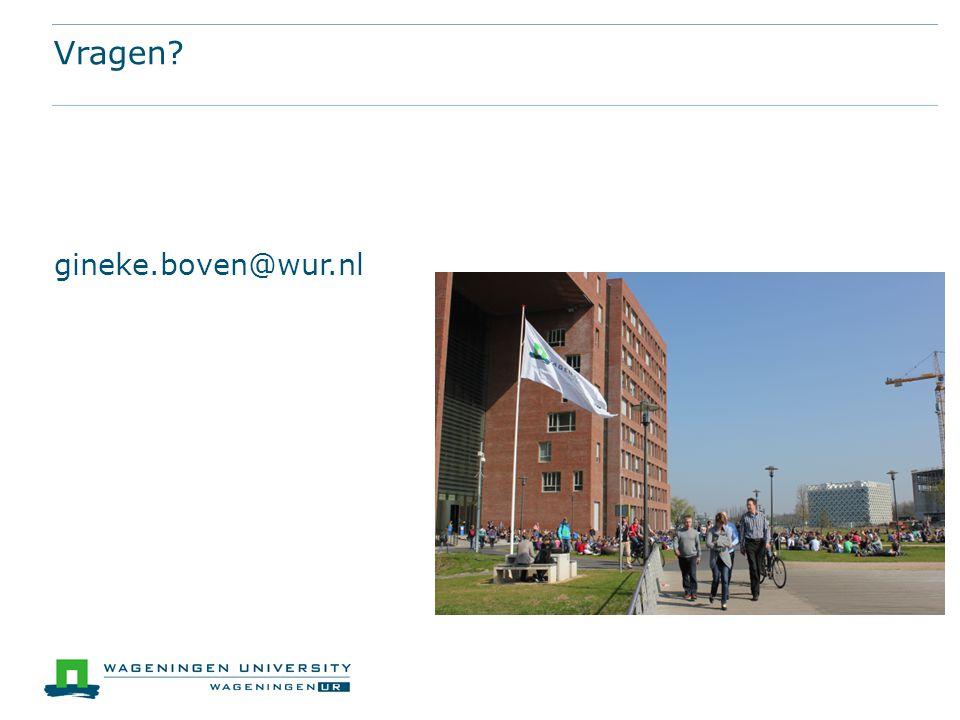 Vragen gineke.boven@wur.nl
