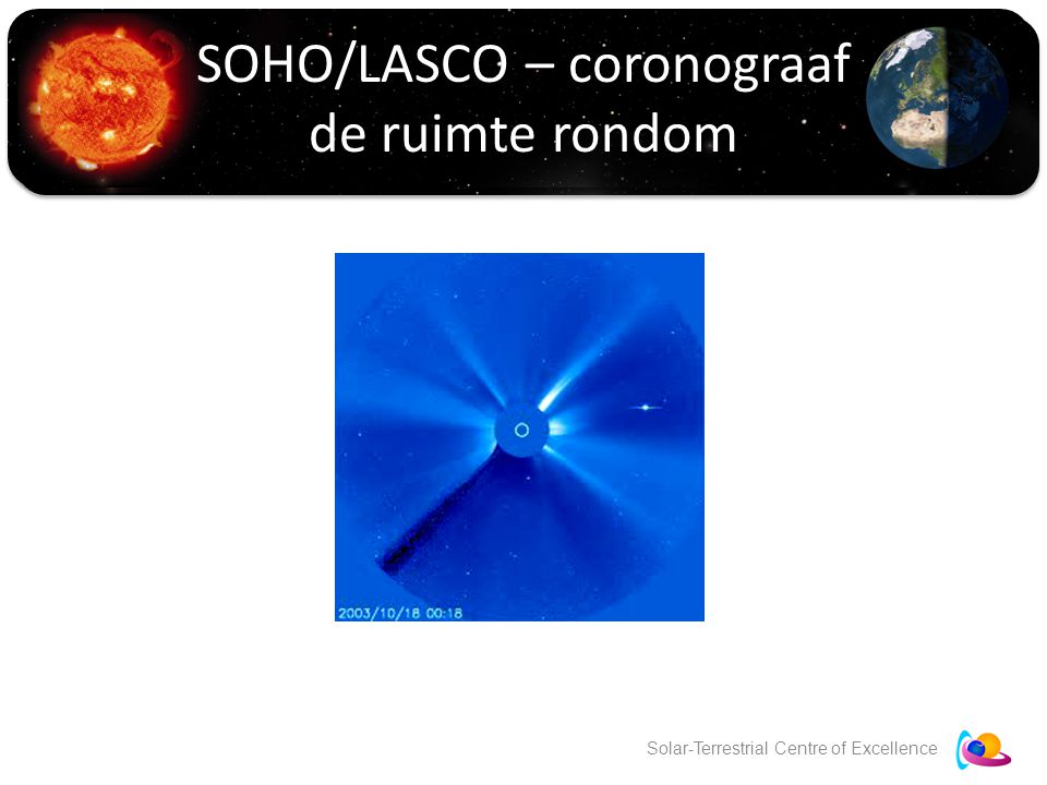 Solar-Terrestrial Centre of Excellence SOHO/LASCO – coronograaf de ruimte rondom