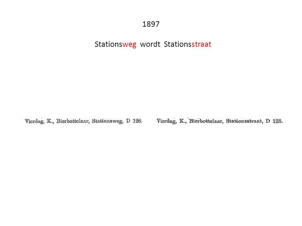 Luchtfoto ± 1995 Links Suisse en rechts Stoffels linksonder de plataan die alles heeft overleefd en nu op het Stationsplein staat