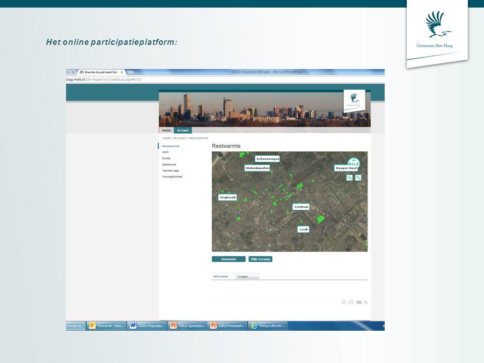 Het online participatieplatform: