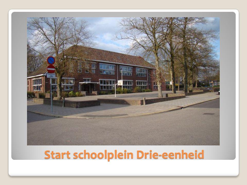 Start schoolplein Drie-eenheid