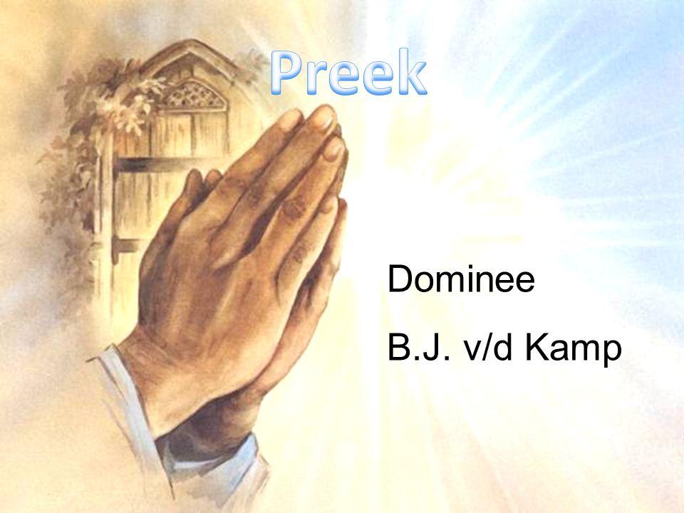 Dominee B.J. v/d Kamp