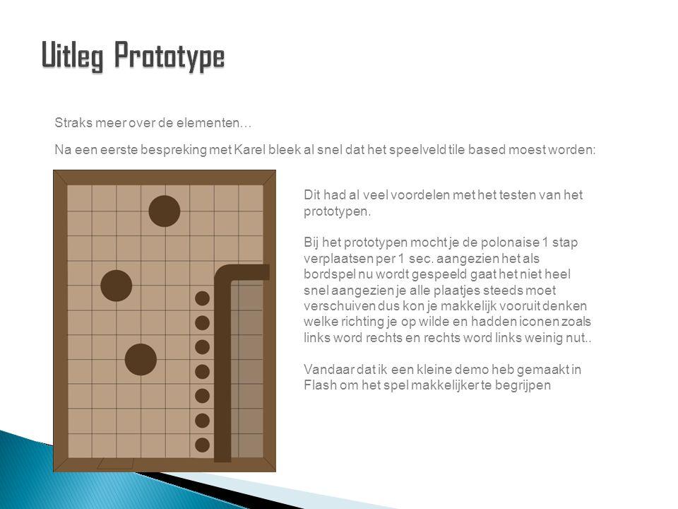 Straks meer over de elementen… Na een eerste bespreking met Karel bleek al snel dat het speelveld tile based moest worden: Dit had al veel voordelen met het testen van het prototypen.