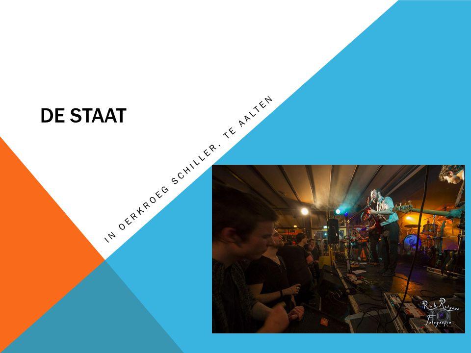 DE STAAT -Rockband -Nijmegen -Genomineerd voor 3FM Award Bandleden: -Zanger en Gitarist  Torre Florim -Leadgitarist  Vedran Mircetic -Bassist en zanger  Jop van Summeren -Percussionist, samples, theremin, toetsenist en zanger  Rocco Hueting -Drums  Tim van Delft