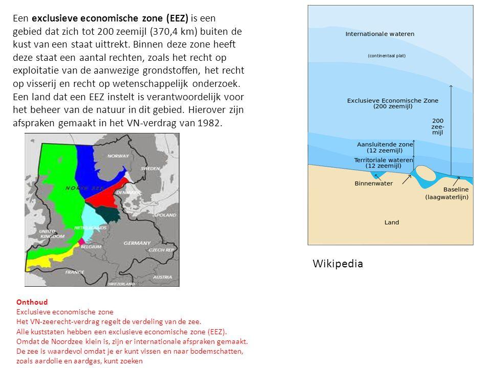 Een exclusieve economische zone (EEZ) is een gebied dat zich tot 200 zeemijl (370,4 km) buiten de kust van een staat uittrekt. Binnen deze zone heeft