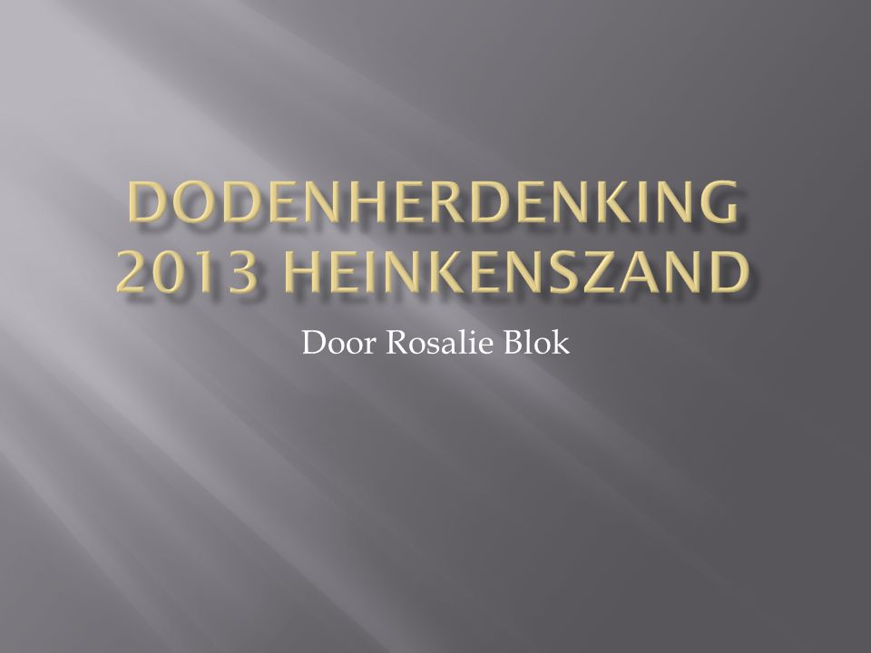 Door Rosalie Blok
