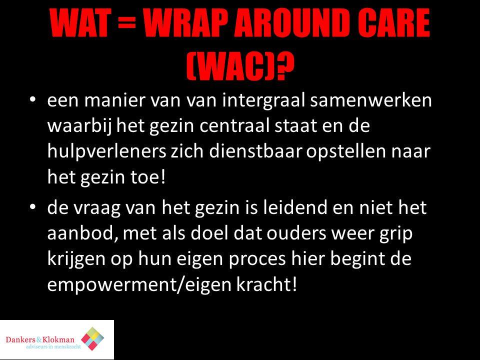 WAT = WRAP AROUND CARE (WAC).