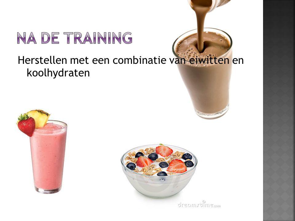 Herstellen met een combinatie van eiwitten en koolhydraten