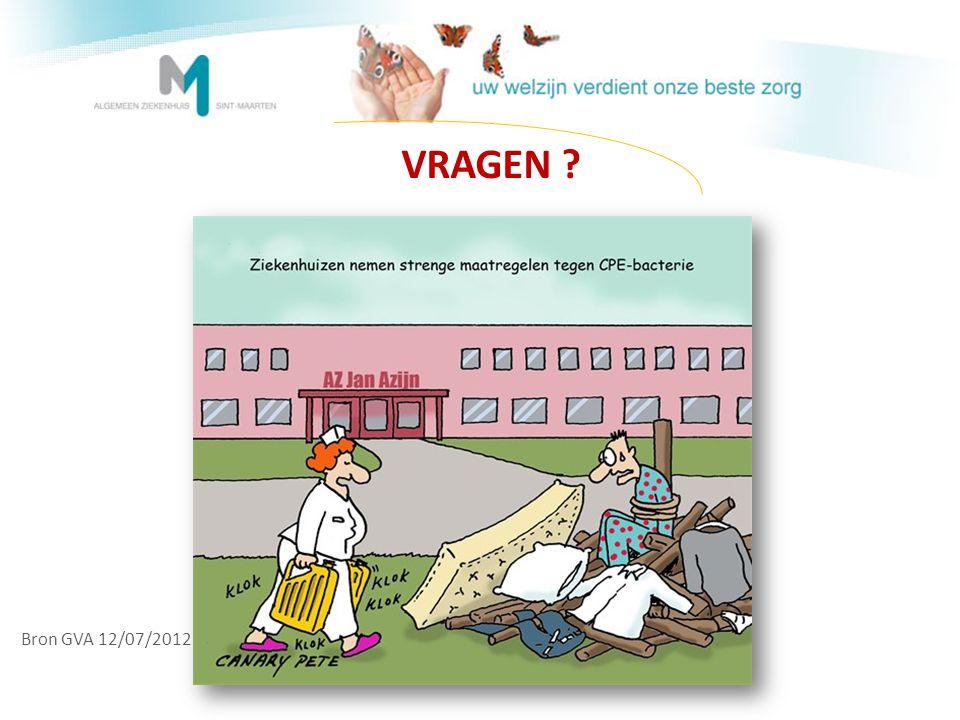 VRAGEN ? Bron GVA 12/07/2012