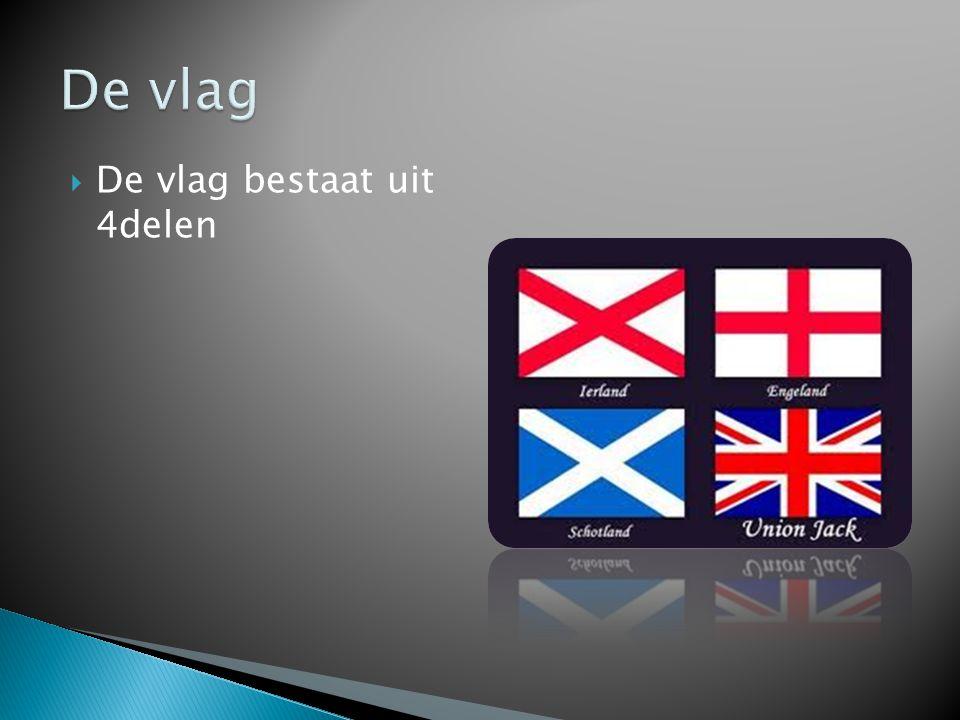  De vlag bestaat uit 4delen