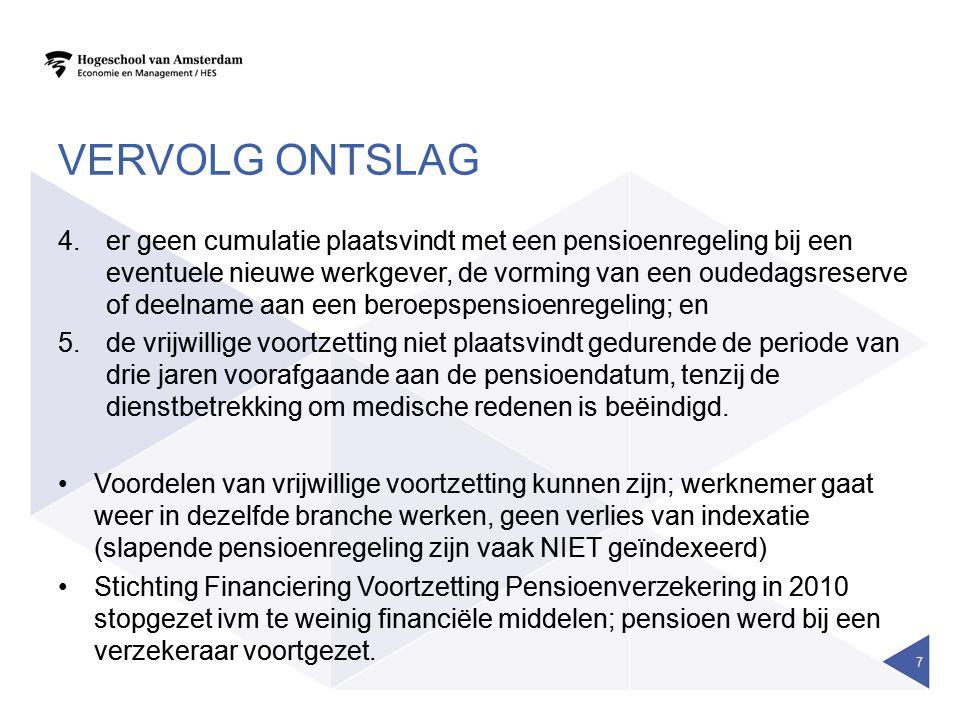 ONTSLAGVERGOEDING •Kantonrechtersformule A x B x C = Aantal dienstjaren x Bruto maandsalaris x Correctiefactor •Bijv.