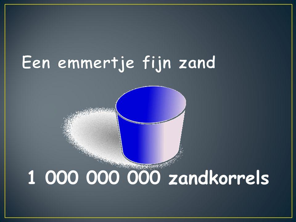 1 000 000 000 zandkorrels