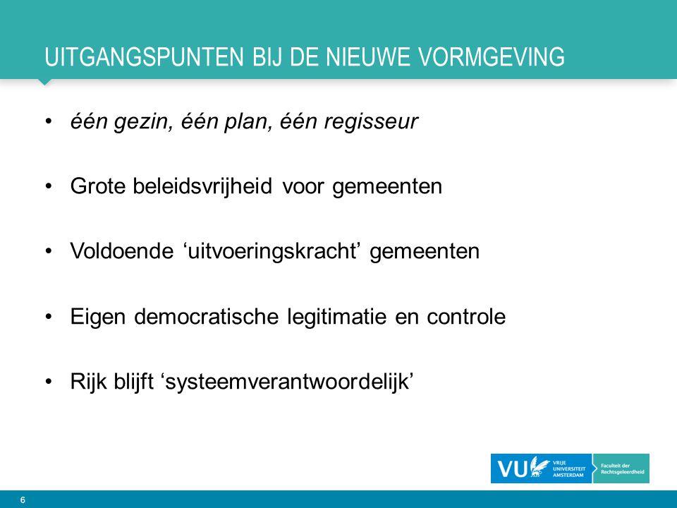 7 OPERATIE 2: DE BESTUURLIJKE HERINRICHTING Regeerakkoord Rutte II: Een grote decentralisatie van taken en bevoegdheden vergt medeoverheden die op een passende schaal zijn georganiseerd.