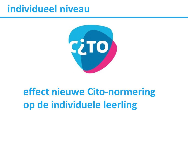 individueel niveau effect nieuwe Cito-normering op de individuele leerling