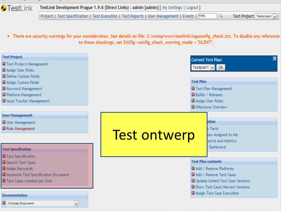 Test ontwerp