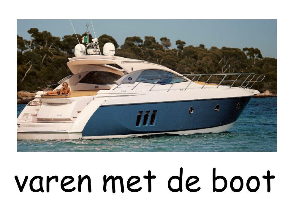 varen met de boot