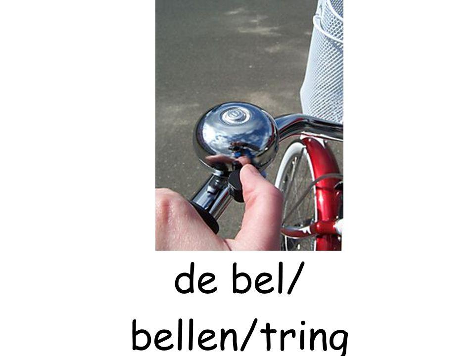 de bel/ bellen/tring