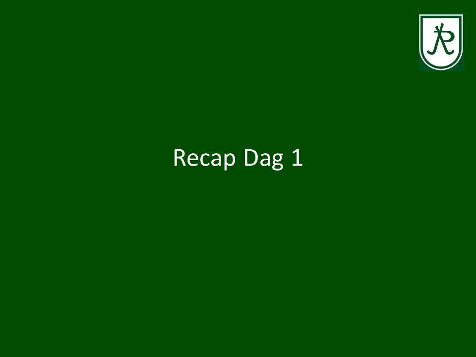 Recap Dag 1