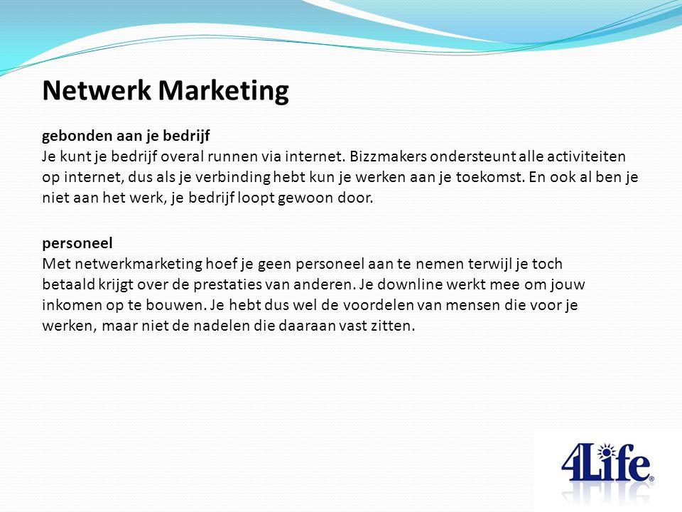Netwerk Marketing personeel Met netwerkmarketing hoef je geen personeel aan te nemen terwijl je toch betaald krijgt over de prestaties van anderen. Je