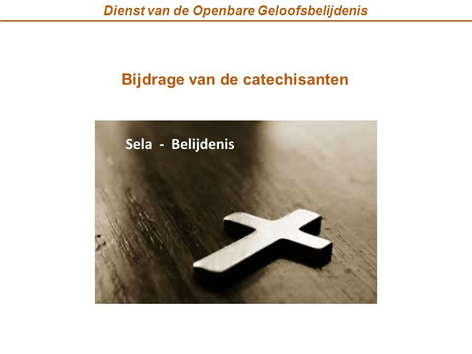 Dienst van de Openbare Geloofsbelijdenis Bijdrage van de catechisanten Sela - Belijdenis