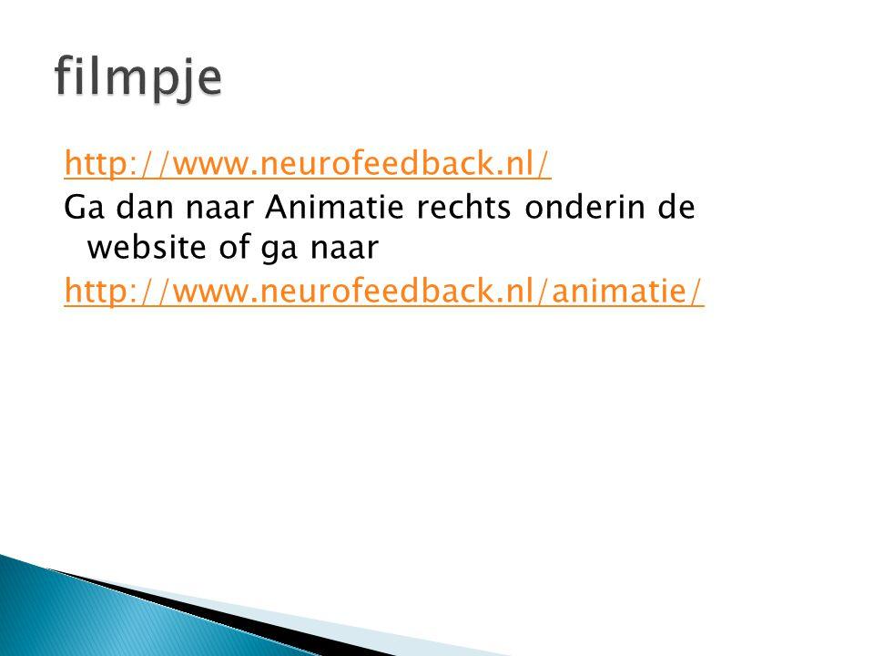 http://www.neurofeedback.nl/ Ga dan naar Animatie rechts onderin de website of ga naar http://www.neurofeedback.nl/animatie/