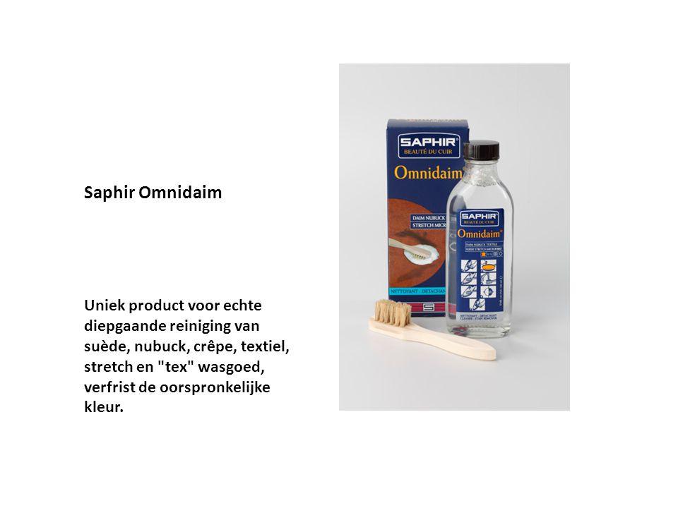 Saphir Omnidaim Uniek product voor echte diepgaande reiniging van suède, nubuck, crêpe, textiel, stretch en
