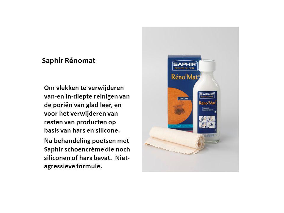 Saphir Rénomat Om vlekken te verwijderen van-en in-diepte reinigen van de poriën van glad leer, en voor het verwijderen van resten van producten op ba