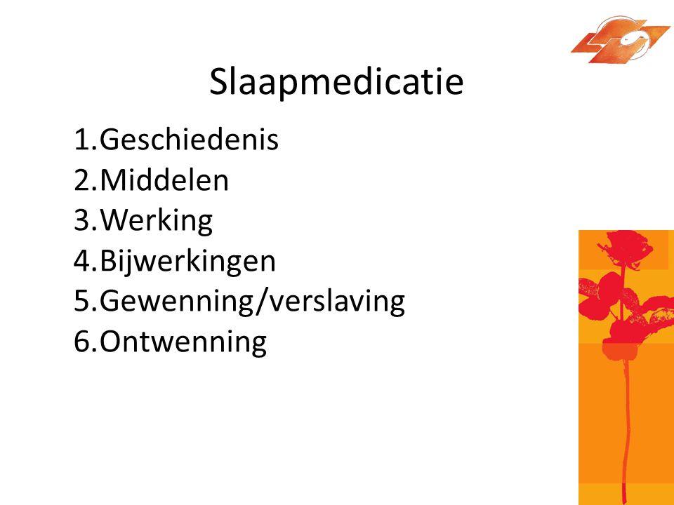 Slaapmedicatie, geschiedenis De eerste chemische verbinding die versuffend werkte is in 1864 ontdekt.