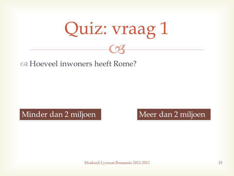   Hoeveel inwoners heeft Rome.