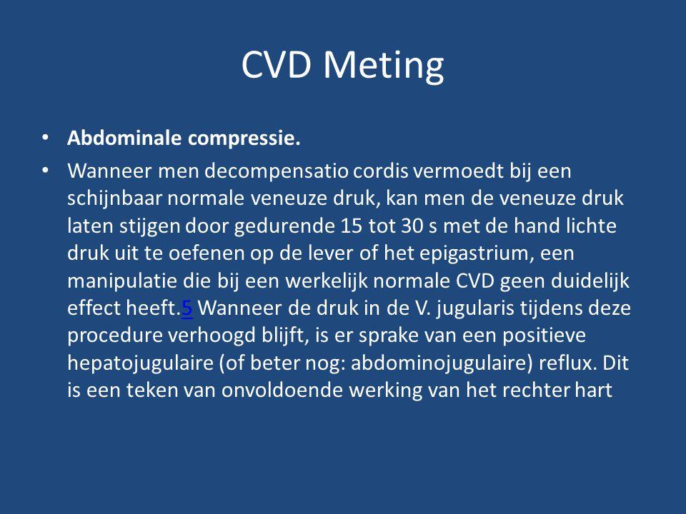 CVD Meting • Abdominale compressie.