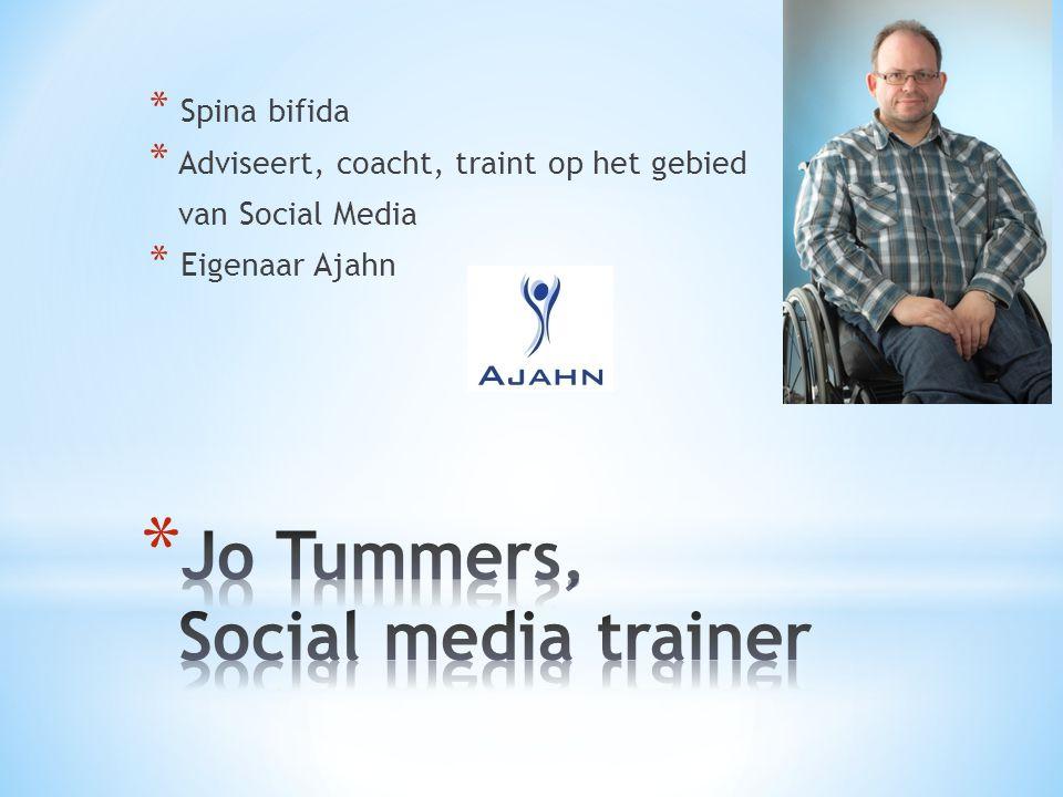 * Spina bifida * Adviseert, coacht, traint op het gebied van Social Media * Eigenaar Ajahn