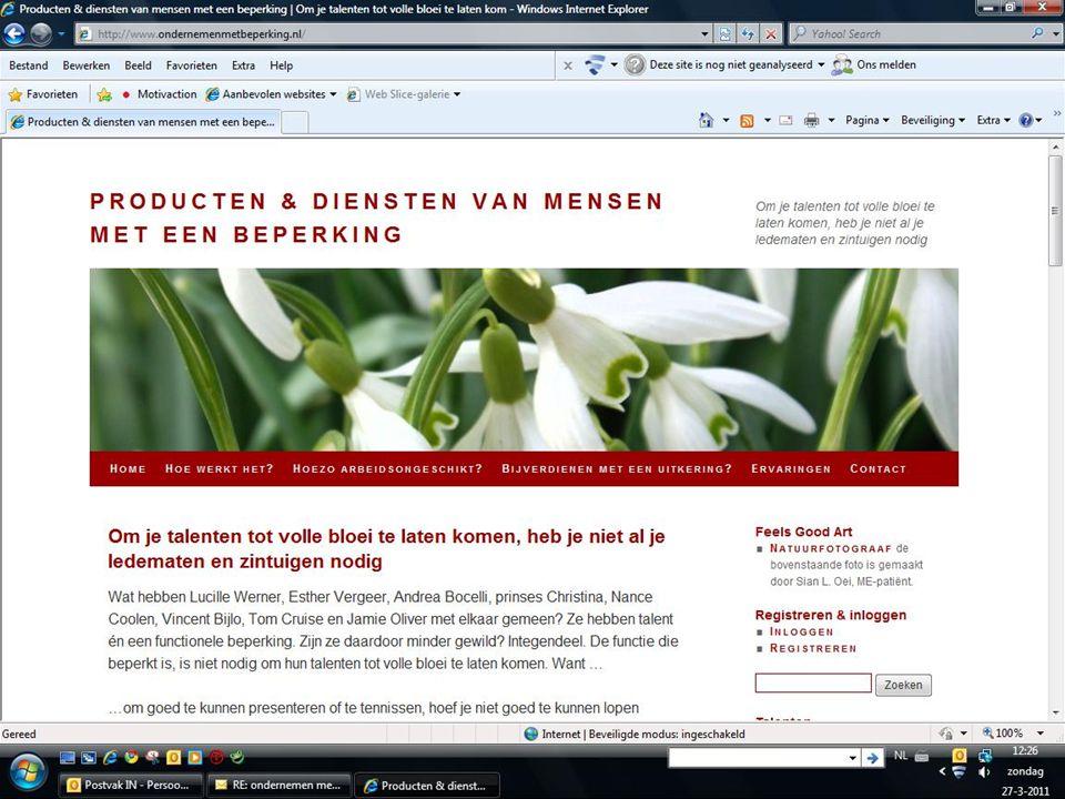 * Meer weten? Kijk op www.ondernemenmetbeperking.nlwww.ondernemenmetbeperking.nl