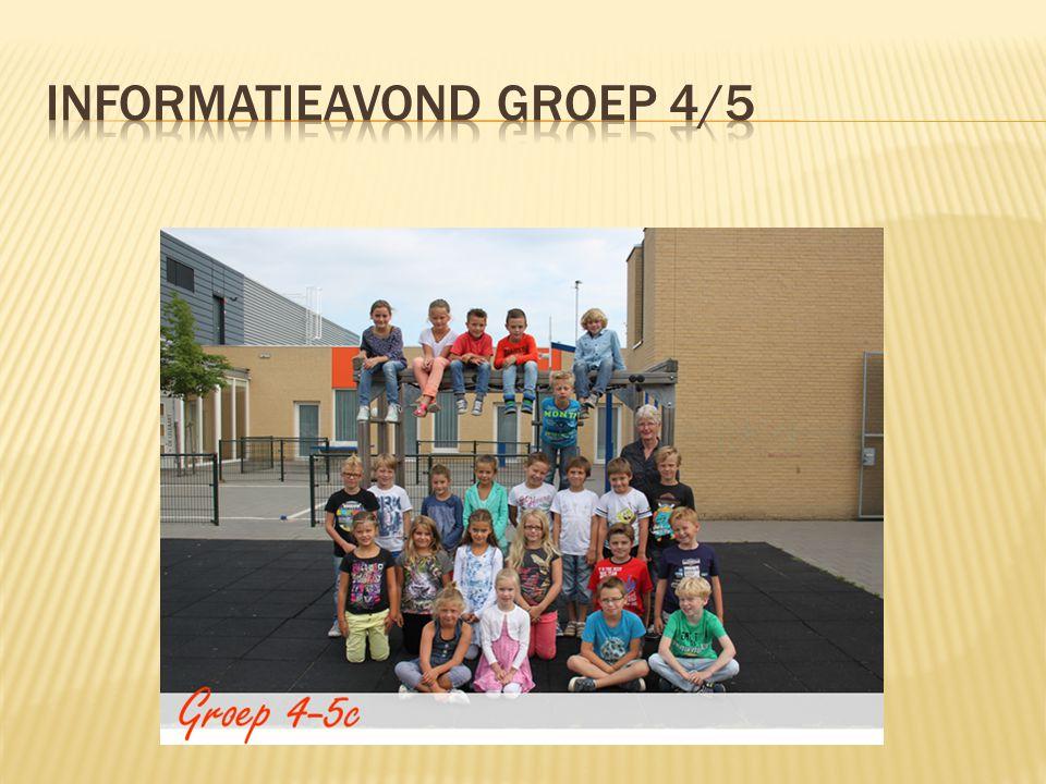 Wij hopen er een leuk, gezellig en leerzaam jaar van te maken! Leerkrachten groep 4 en 5
