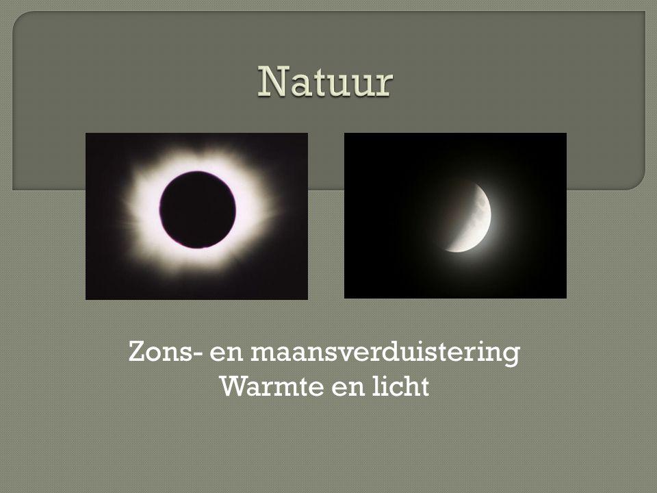 Zons- en maansverduistering Warmte en licht