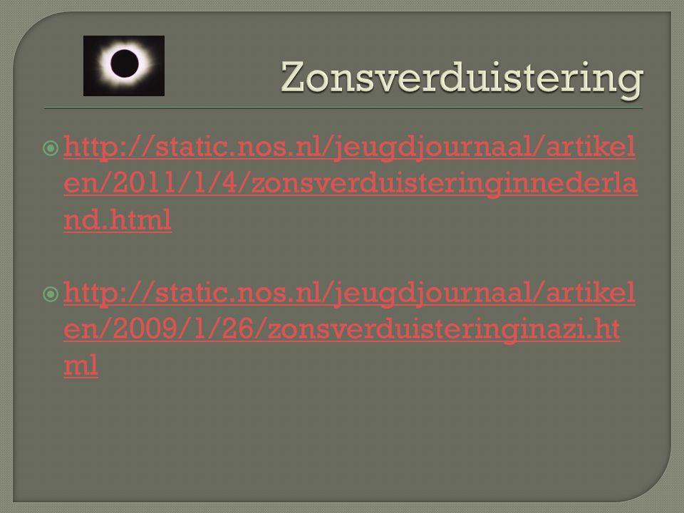  http://static.nos.nl/jeugdjournaal/artikel en/2011/1/4/zonsverduisteringinnederla nd.html http://static.nos.nl/jeugdjournaal/artikel en/2011/1/4/zon