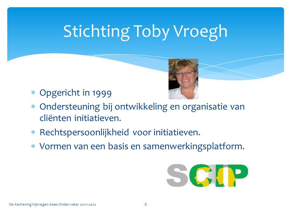  Opgericht in 1999  Ondersteuning bij ontwikkeling en organisatie van cliënten initiatieven.  Rechtspersoonlijkheid voor initiatieven.  Vormen van