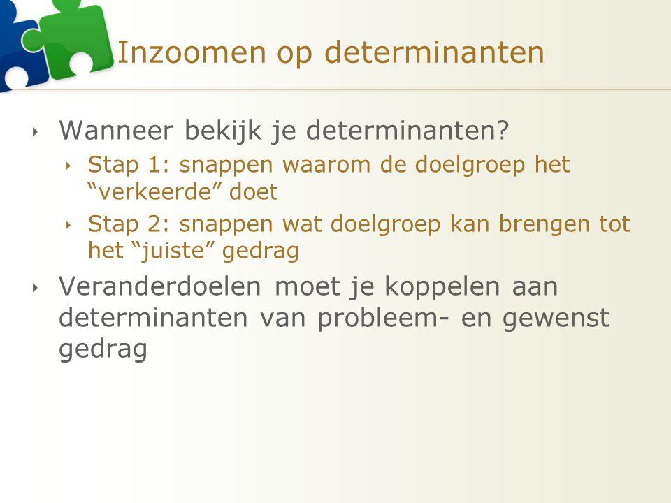 Inzoomen op determinanten  Wanneer bekijk je determinanten.