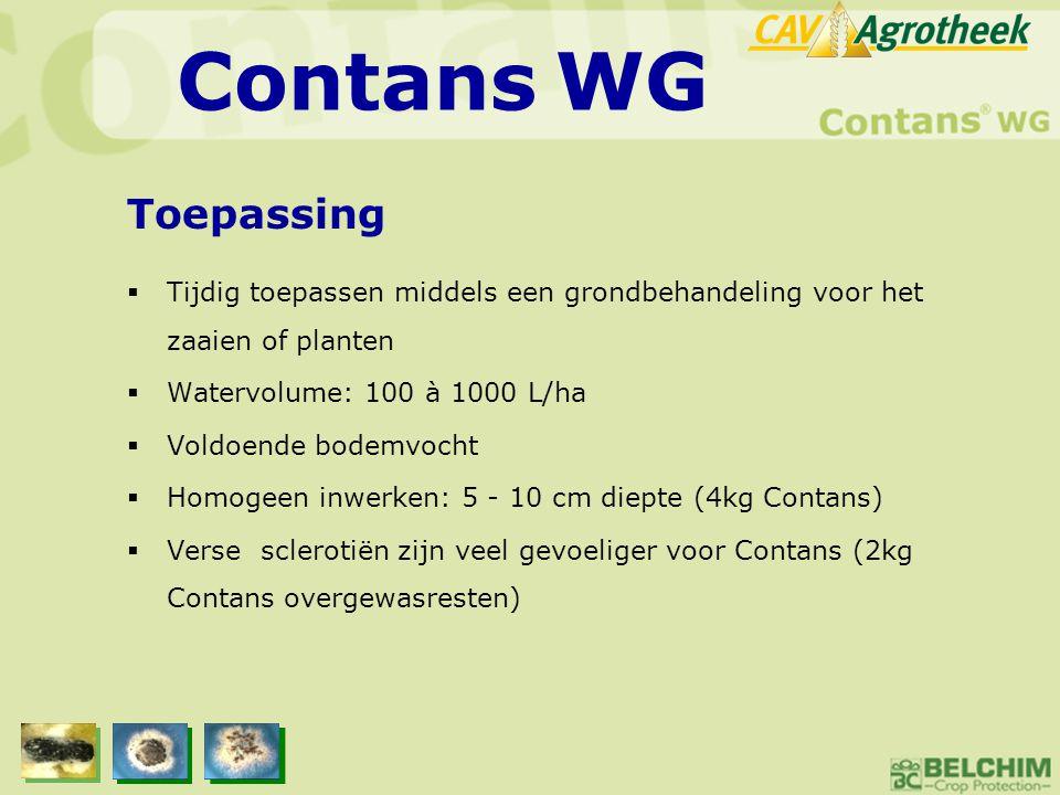  Tijdig toepassen middels een grondbehandeling voor het zaaien of planten  Watervolume: 100 à 1000 L/ha  Voldoende bodemvocht  Homogeen inwerken: