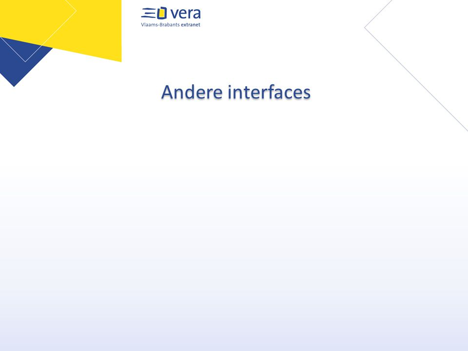 Andere interfaces