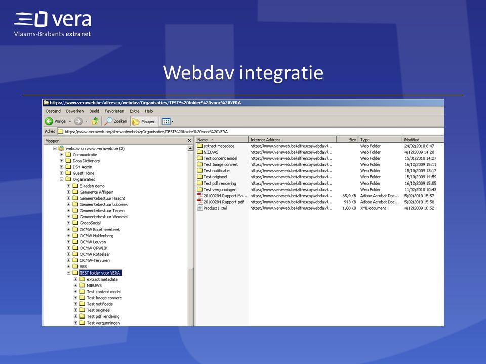 Webdav integratie