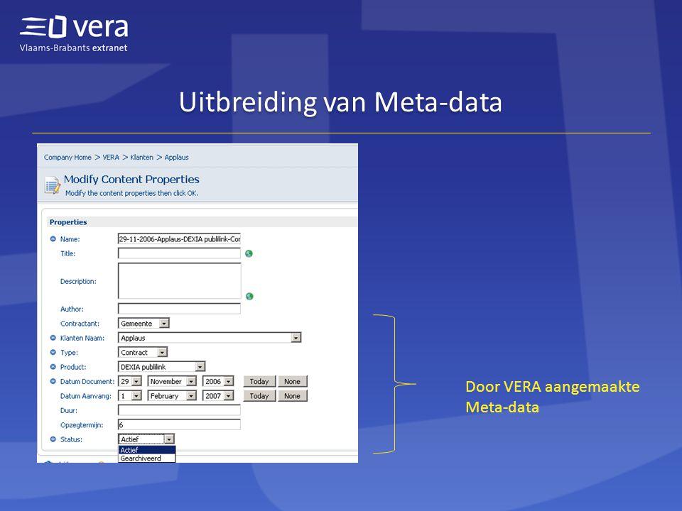 Uitbreiding van Meta-data Door VERA aangemaakte Meta-data
