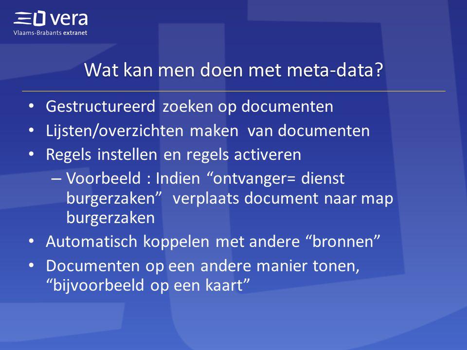 Wat kan men doen met meta-data.