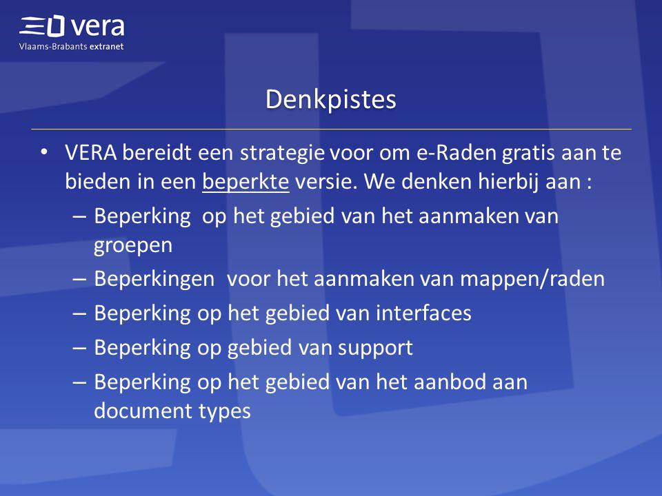 Denkpistes • VERA bereidt een strategie voor om e-Raden gratis aan te bieden in een beperkte versie.