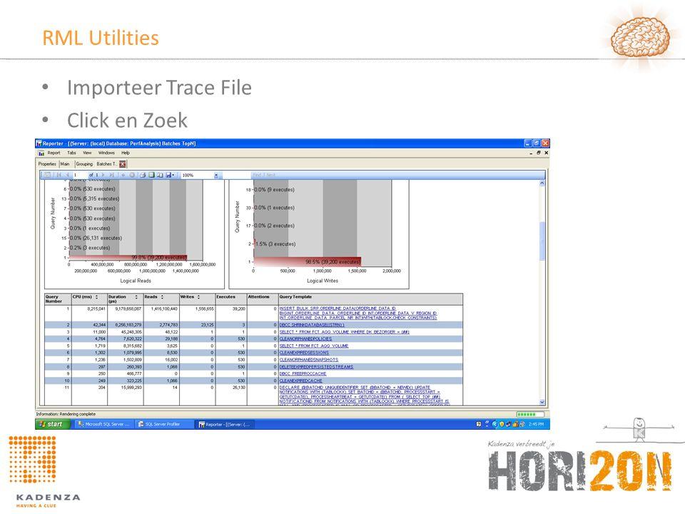 RML Utilities • Importeer Trace File • Click en Zoek