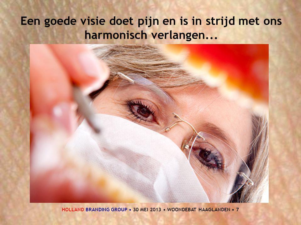 HOLLAND BRANDING GROUP • 30 MEI 2013 • WOONDEBAT HAAGLANDEN • 7 Een goede visie doet pijn en is in strijd met ons harmonisch verlangen...
